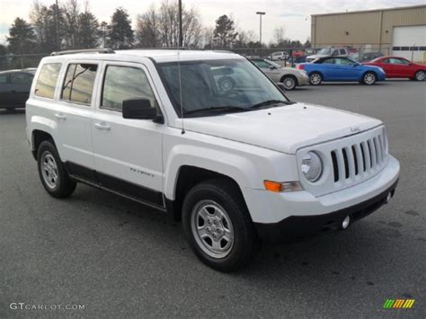 2012 Jeep Patriot Sport Bright White 2012 Jeep Patriot Sport Exterior Photo