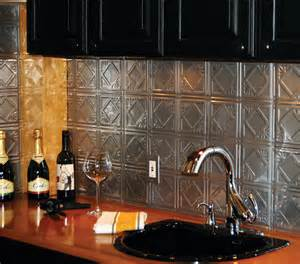 Tin Tiles For Kitchen Backsplash Tin Backsplash Brushed Nickel Tin Tiles Contemporary Tile Other Metro By American Tin