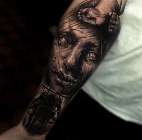 creepy tattoo creepy sleeve best design ideas