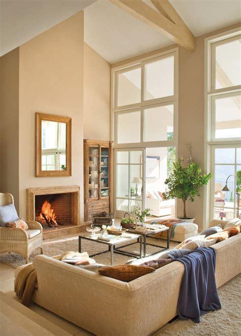 chimeneas en salones 15 salones con chimenea sal 243 n el invierno y invierno