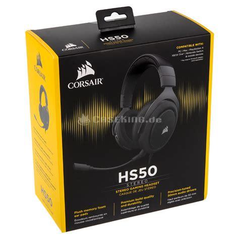 Corsair Hs50 Stereo Gaming Headset Carbon corsair hs50 gaming headset schwarz ca caseking de