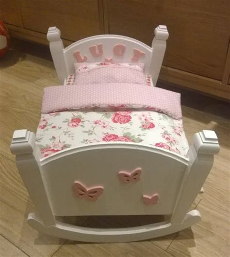 hand made wooden rocking bed cradle for dolls for sale in finglas dublin from bunia ie
