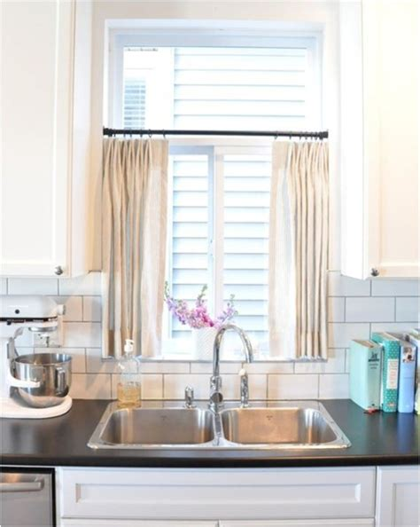 cafe style kitchen curtains 6 ways to dress a kitchen window centsational
