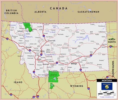 map of montana montana highway and road map montana montana