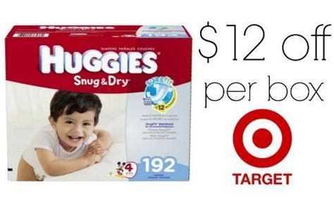 huggies printable coupons target 12 off huggies boxed diapers with coupon stack at target