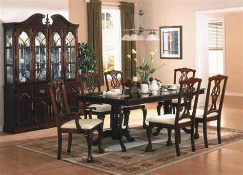 dining room setting cherry finish classic 5pc dining room set w optional items