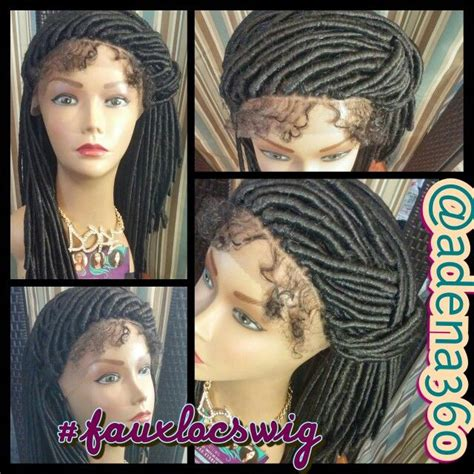 faux locs with human hair 2 faux locks wig w baby hair lacefront faux locs wig