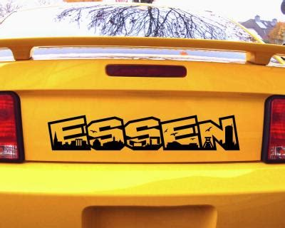 Autoaufkleber In Essen by Autoaufkleber Essen Schriftzug Skyline Aufkleber 25 Farben
