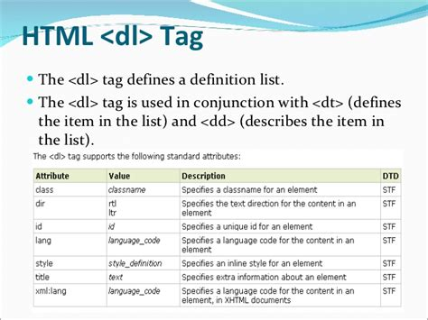 html layout tags and their meanings html links tag list tags