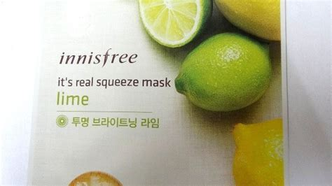 Innisfree My Real Squeeze Mask 100 Original 1 innisfree it s real squeeze mask lime