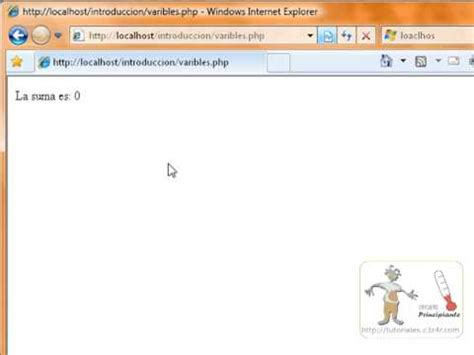 tutorial php variables php tutorial basico uso de variables en php parte 2