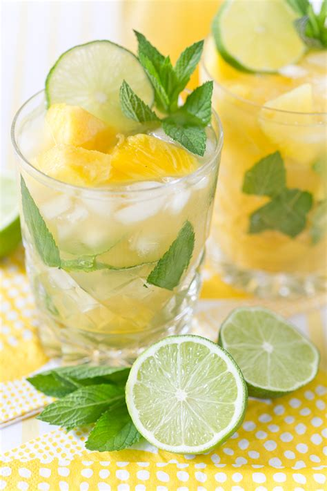 Pineapple Arugula Mint Mojitos Recipe Dishmaps