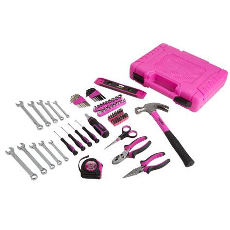 Not So Pink Tool Kit by The Original Pink Box 94 Home Repair Tool Kit Pink