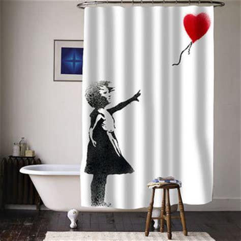 Banksy Bathroom Banksy Balloon Special Custom Shower From Curtainasu