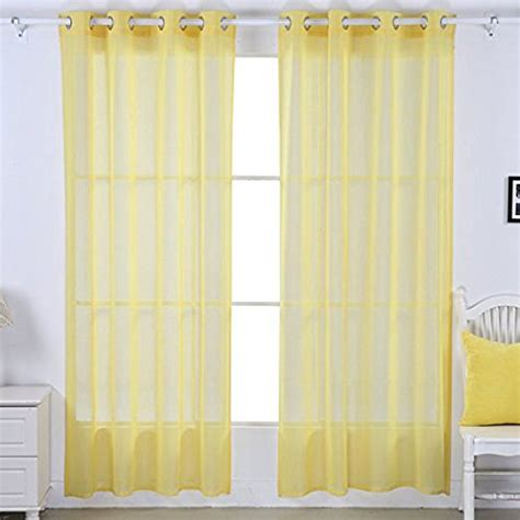 lemon yellow sheer curtains deconovo curtains christmas holiday sale ease bedding