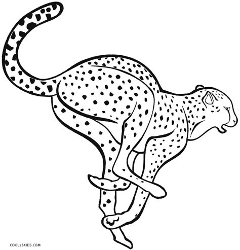 coloring page cheetah printable cheetah coloring pages for cool2bkids