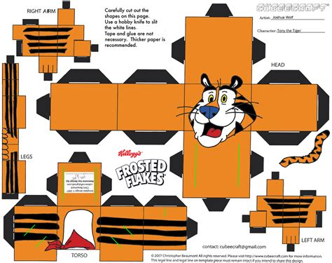 3d Paper Crafts Printable - tiger 3d paper crafts gift packages paper ribbons cards