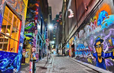 view  colorful graffiti artwork  hosier lane