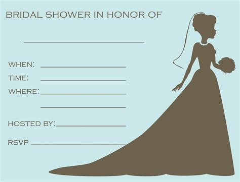 shower invitation templates free bridal shower invitations ideas