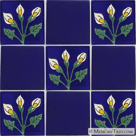 mexican tile callalilies 1 talavera mexican tile