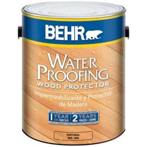 behr  gal waterproofing wood protector   home