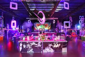 studio 54 imagery inspired the look for a bar front which