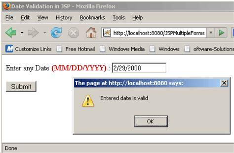 mysql date format validation date validation in jsp