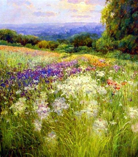 Garden Oil Paintings Flower Garden Paintings Paintings Of Flower Gardens