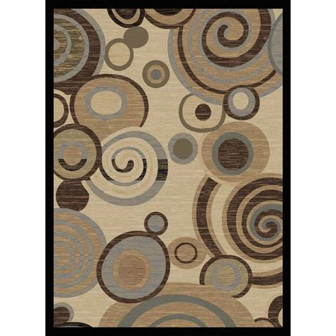Tayse Rugs Festival Beige 5 Ft 3 In X 7 Ft 3 In Contemporary Area Rugs 5x8