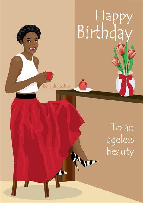 Black Birthday Cards For