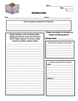 book report template 6th grade 1000 ideas about book report templates on