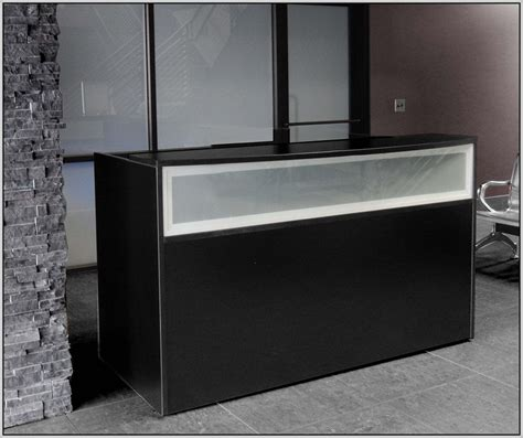 black reception desk small black reception desk desk home design ideas