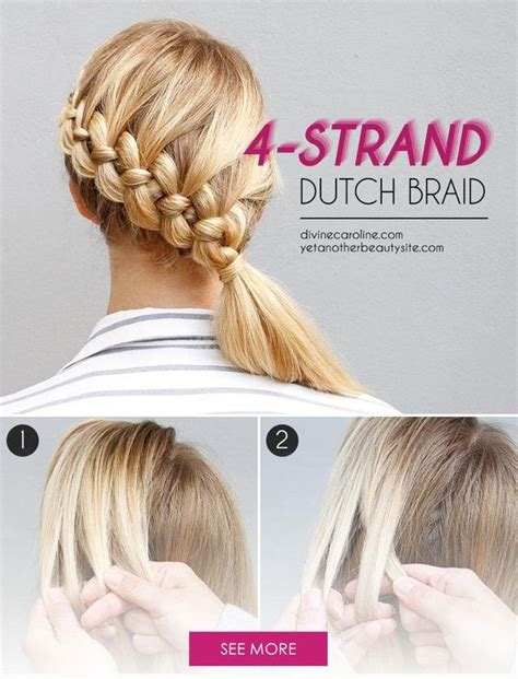 4 strand french braid easy hairstyles cute girls how to 4 strand french braid try this the four strand
