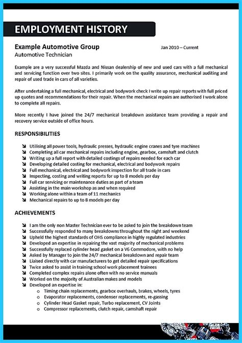 writing clear auto sales resume arranging a solid automotive resume