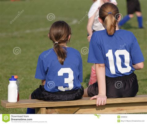 soccer player bench soccer players on bench stock photography image 2838632