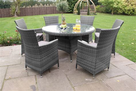 6 seater and chairs vienna 6 seater round rattan dining set