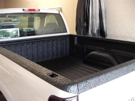 white bed liner paint spray bedliner on white truck in arkansas arkansas spray