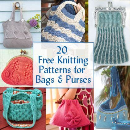 free knitting patterns for bags totes the world s catalog of ideas