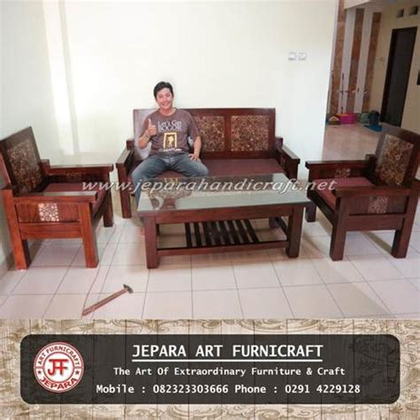 Kursi Tamu Jati Minimalis Furniture Jepara jual furniture kursi tamu minimalis antik jati jepara