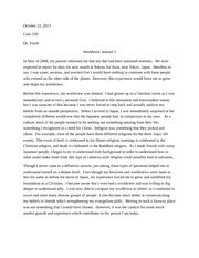 Personal Worldview Essay by Personal Worldview Paper 150 Dr Finch December 1 2013 Personal Worldview Paper At The