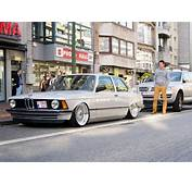 Silver BMW E21 Slammed On 16″ BBS RS  Zone