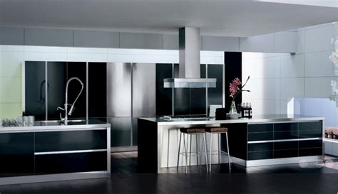 Black Kitchen Cabinets Design Ideas - 30 black and white kitchen design ideas digsdigs