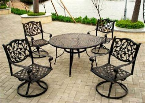 Black Wrought Iron Patio Furniture Sets by Furniture Metal Patio Furniture Astounding Design Ideas