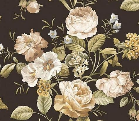 Cabbages And Roses L Shades by Qt19383 Quintessential Totalwallcovering