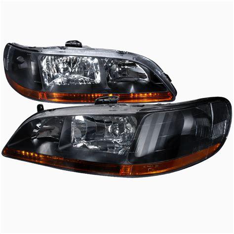 pro design black headlights for 1999 honda accord