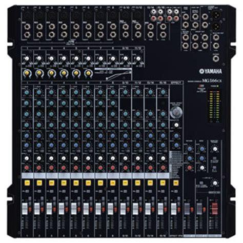 Audio Mixer Yamaha Mg 166cx mg166cx analog mixers mixers live sound products