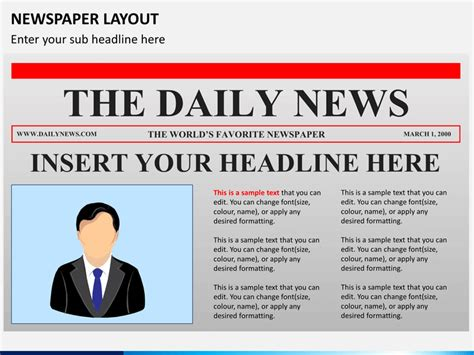 Newspaper Layout Powerpoint Sketchbubble Microsoft Powerpoint Newspaper Template