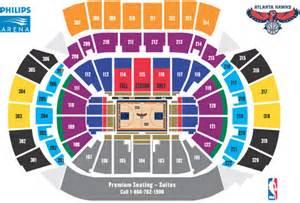 philips arena floor plan tickets atlantahawks