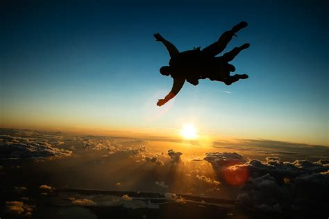 skydiving solo sunset www pixshark com images