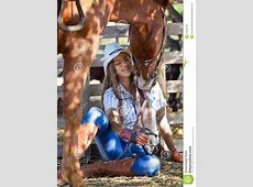 Cowgirl with horse stock image. Image of happy, flirting ... X 23 Comic